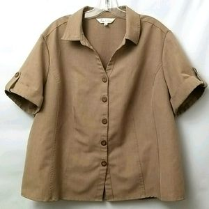 Tradition Women's Short Sleeved Button Down Top